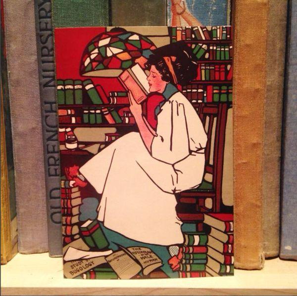 'Dig' Vintage Reading Illustration Greeting Card