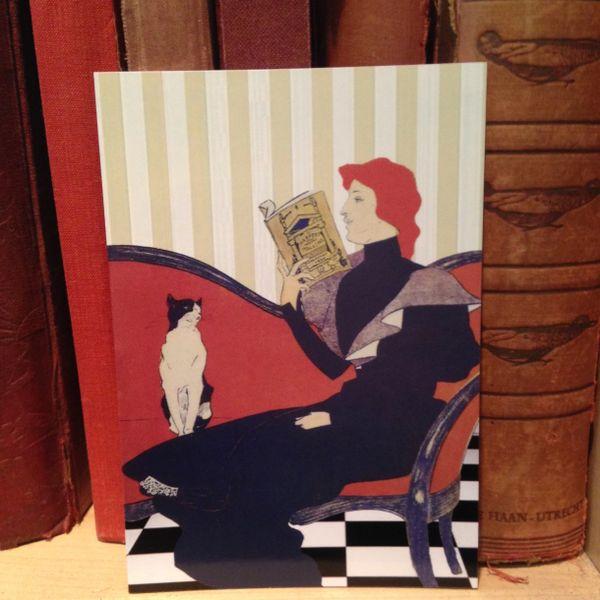 'Patience' Vintage Illustration Greeting Card