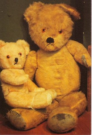Edward and Bertie. Vintage Teddy Bear Photograph Greeting Card