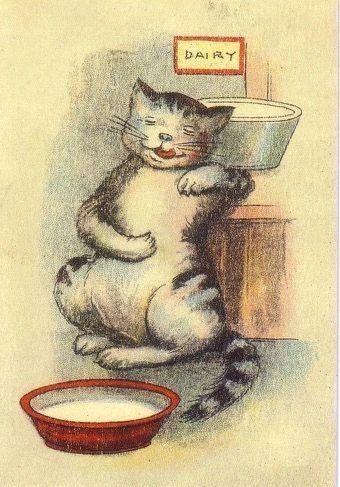 £1 Card!!! 'The Good Life' Vintage Cat Illustration Greeting Card.