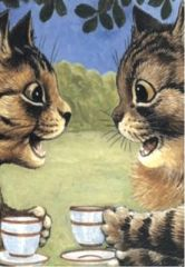 You Don't Say... Louis Wain Illustration Greeting Card.