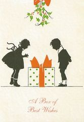 £1 Christmas Card!!! 'A Box of Best Wishes' Vintage Christmas Card Repro.