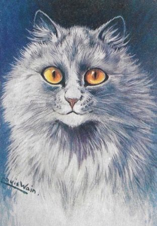 Persian Prince. Louis Wain Cat Illustration Greeting Card.