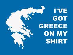 117. I've Got Greece On My Shirt T-Shirt