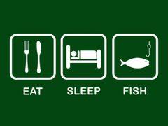 075. Eat Sleep Fish T-Shirt
