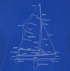 265. Sailboat Schematics T-Shirt