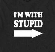 237. I'm With Stupid T-Shirt