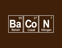 229. Bacon Periodic Table of Elements T-Shirt
