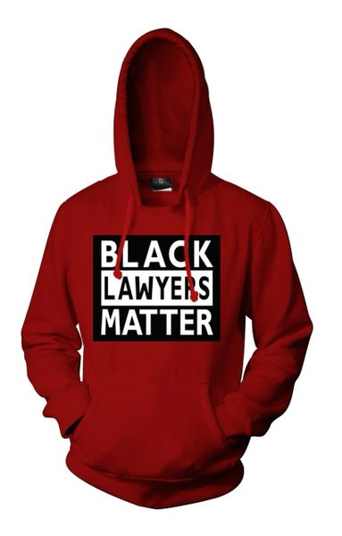 Black Lawyers Matter® Hoodie (Cardinal Red)