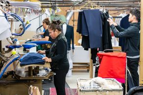 Every garment is hand-pressed by one of our experts.