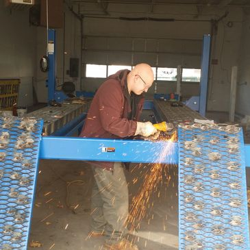 Portable welding fabrication, repair and installation services.