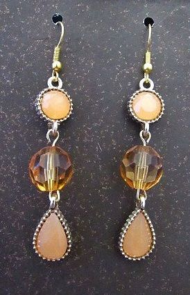 Muted Yellow Drops with Clear Yellow Accent Bead Earrings