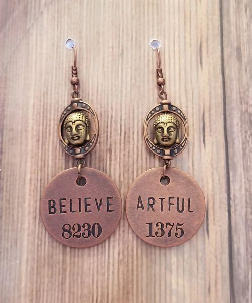 Believe & Be Artful Buddha Earrings