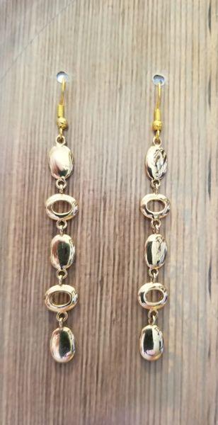 Salavaged Golden Charm Dangle Earrings