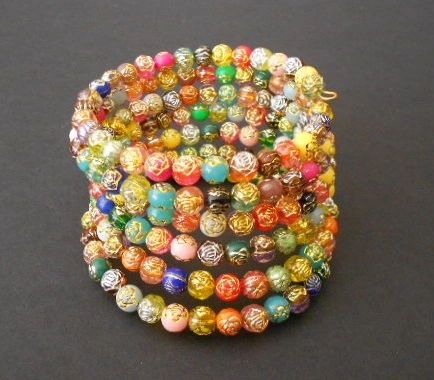 Rainbow of Roses Wrap Bracelet