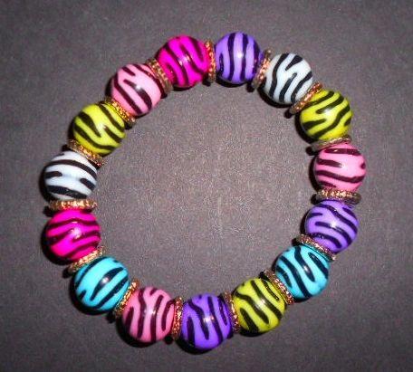 Wild Zebra Stripes Stretch Bracelet