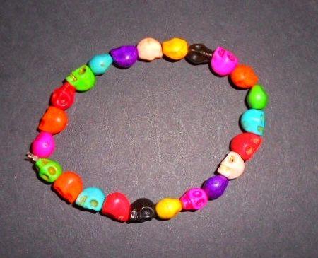 Colorful Mini Skulls Stretch Bracelet