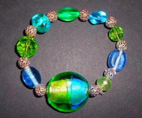 Cool Blues & Greens Stretch Bracelets