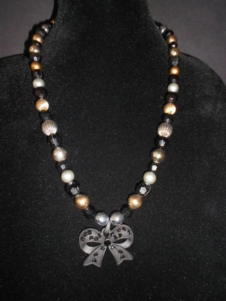 Gothic Elegance Beaded Necklace