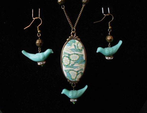Boho Birdies Necklace & Earring Set