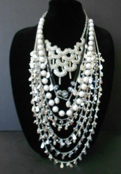 Wow Factor Silver Multi-Strand Statement Necklace
