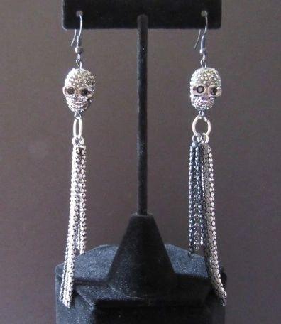 """5"""" Skull & Chain Earrings"""