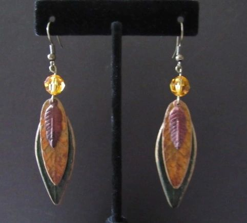 Colors of Autumn Leaf Earrings