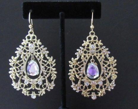 Golden Lace Large Earrings