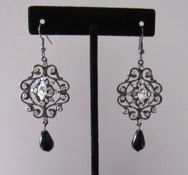 Gothic Lace Dangle Earrings