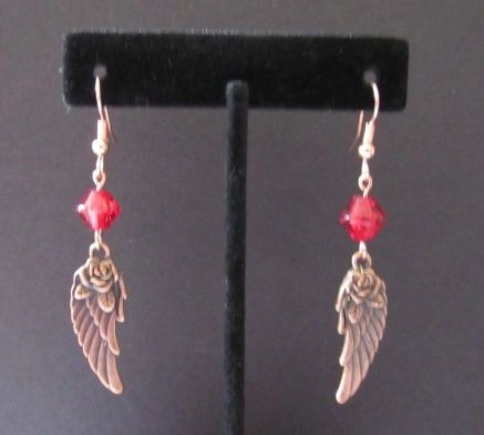 Little Redwing Copper Wing Earrings