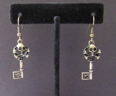 Skull & Crossbones Key Earring