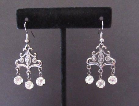 Victorian Rhinestone Chandelier Earrings