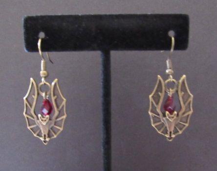 Vampire Bat Dangle Earrings