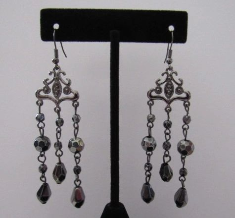 Elegant Long Victorian Dangle Earrings