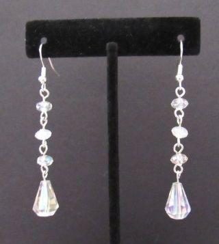 Shimmering Crystal Dangle Earrings
