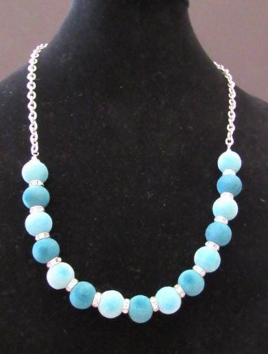 Blue Velvet Three Piece Suite Necklace/Earring/Bracelet