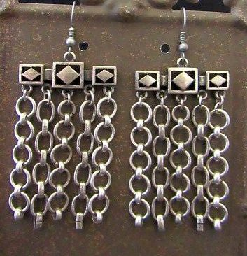 Industrial Chain Dangle Earrings