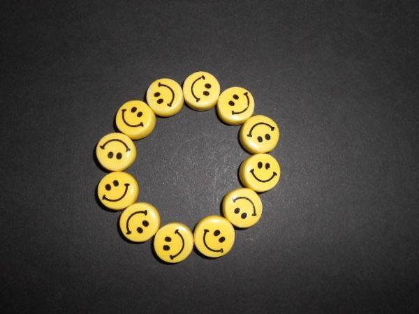 Smiley Face Stretch Bracelet