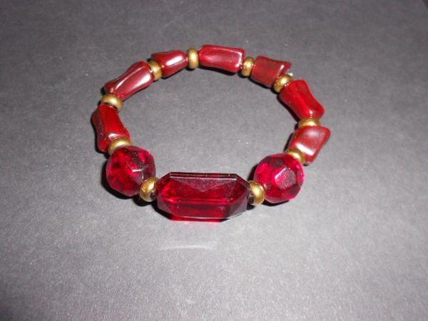 Ruby Red Stretch Bracelet