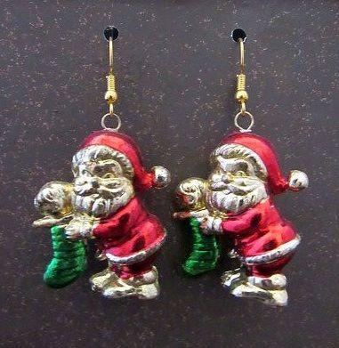 Vintage Santa Claus Earrings