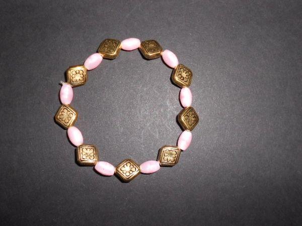 Pink & Gold Prettiness Stretch Bracelet
