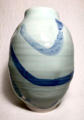 Celadon & Cobalt Vase 0003