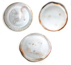 Set of 3 Soda Fired Plates