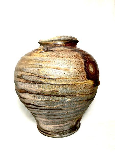 Woodfired Fish Mouth Vase