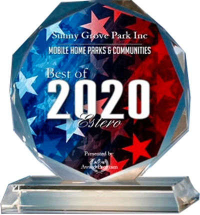 Winner of Estero 2020  Best  Mobile Home Park