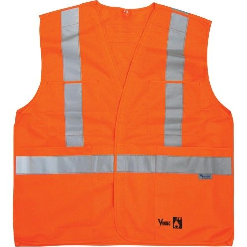 SDP389 Fire Retardant Safety Vests (SML-XXL) VIKING 6136FR