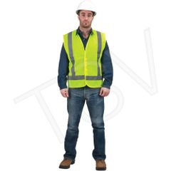 SEB702 CSA Compliant Traffic Safety Vests High Visibility Lime-Yellow (M-XL)