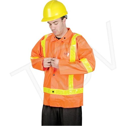 SD458 JACKET TRAFFIC RAINSUIT PVC on Nylon High Visibility Class 2 (3 with Pants) SML-MED HONEYWELL TV7001HV