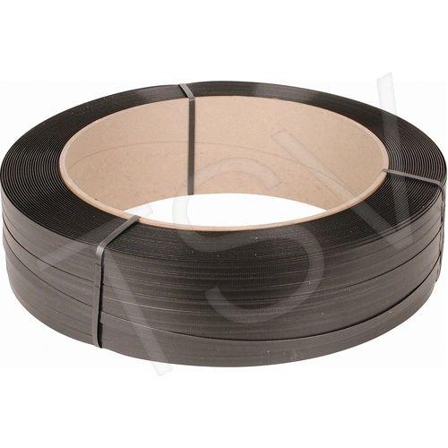 "PF071 Polypropylene Strapping 1/2""W X 750LB Strength X 5600FT 6Wx16Core BLACK SAMUEL #M1275EMB056B6"