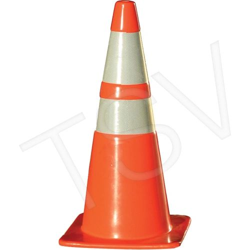"""SAQ093 Recessed TRAFFIC Cones Height: 28"""" Orange Reflective Collars: 4"""" & 6"""" CCI #03-500-10OR Distancing"""